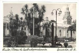RP  Quito , Plaza de la independencia, Ecuador, S.A., A STEIN Photo Postcard