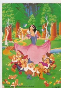 Postal 029832 : Disney Blancanieves y los siete enanitos