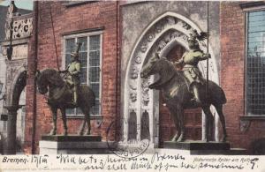 Bremen, Historische Reiter am Rathaus, Germany, PU-1905