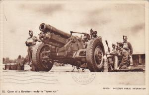 Howitzer Crew with Gas Masks Ready to Open Up 1940