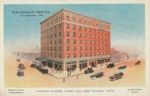 SALISBURY, Maryland, 1900-10s; Wicomico Hotel ; Version-3