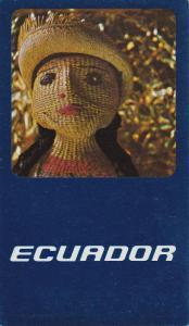 Braniff International Airlines postcard , ECUADOR , 50-60s