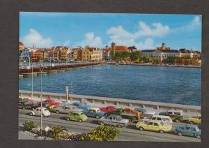 View Of Willemstad With Pontoon Bridge, Curacao - Unused - Old Cars