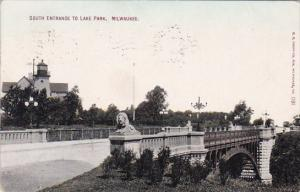 Wisconsin Milwaukee South Entrance To Lake Park 1909