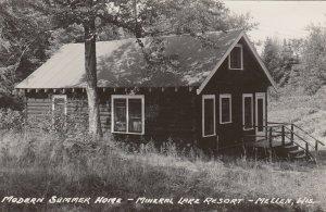 RP: MELLON , Wisconsin, 1930-40s ; Mineral Lake Resort , Modern home