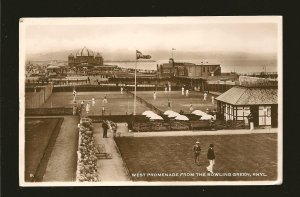 Postmarked 1948 Rhyl Flintshire West Promenade Bowling Green Rhyl Photo Postcard
