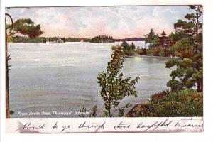 View From Devil's Oven, Thousand Islands, Ontario, H C Leighton, Made in Germ...