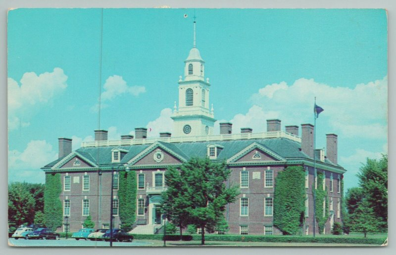 Dover Delaware~Capitol Building From Street View~Vintage Postcard