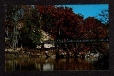 IN Suspension Bridge PARKE COUNTY INDIANA Postcard PC