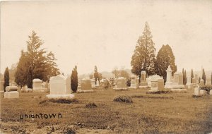 F39/ Uniontown Ohio RPPC Postcard c1910 Stark County Cemetery