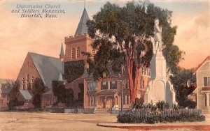 Universalist Church in Haverhill, Massachusetts and Soldier's Monument.