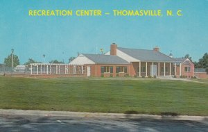 THOMASVILLE, North Carolina, 1950-60s; Recreation Center, City Memorial Park