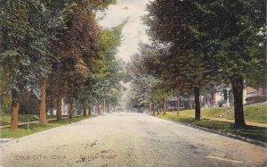 Iowa Iowa City College Street 1908