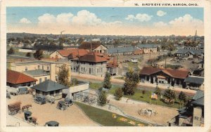 LPS67 MARION Ohio Town Aerial View Postcard