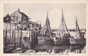 Three Fishermen Of Cape Ann At Old Wharf Rockport Massachusetts Albertype