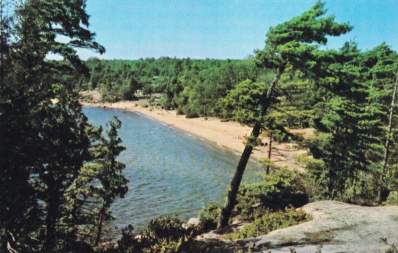 Beach, Kilvear Provincial Park, GEORGIAN BAY Near PARRY SOUND, Ontario, Canad...
