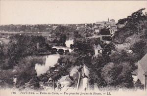 France Poitiers Vallee du Clain Vue prise des Jardins de Blossac