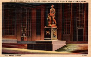 Indiana Fort Wayne Lincoln Statue In Plaza Of Lincoln National Life Insurance...