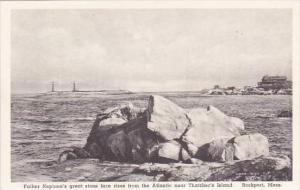 Massachusetts Rockport Father Neptune's Stone Face Albertype