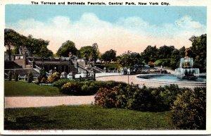 New York City Central Park The Terrace and Bethesda Fountain 1924