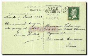 Old Postcard Nice view of & # 39ensemble the Public Garden Au Fond City casin...