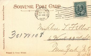 Yonge Street Dock, Toronto, Ontario, Canada, early postcard, Used in 1906
