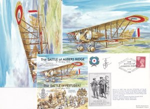 The Battle Of Aubers Ridge Festubert WW1 3x Military Hand Signed FDC s Postcard