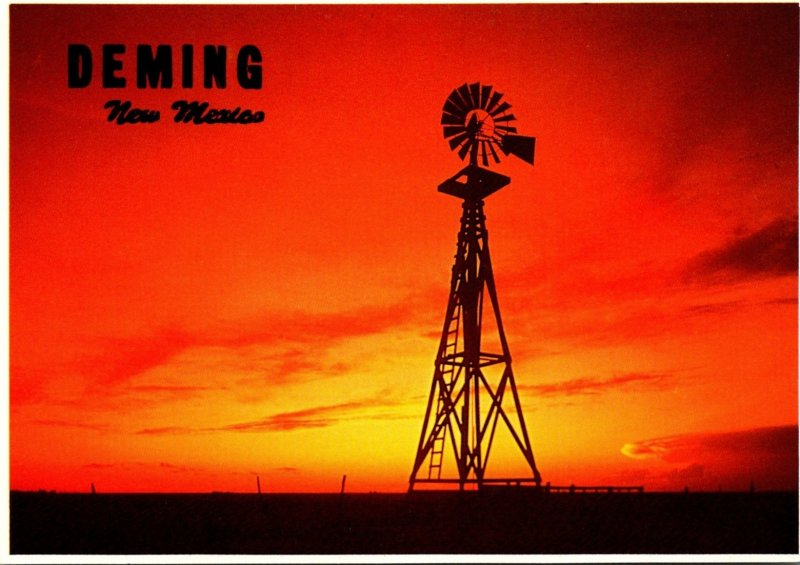 New Mexico Deming Flaming Southwestern Sunset