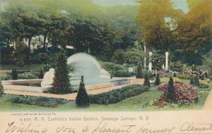 Saratoga Springs NY, New York - Canfield's Italian Garden - pm 1908 - UDB