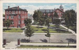 HUNTINGDON, Pennsylvania, PU-1921; General View Of Juniata College And Campus