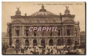 Paris Old Postcard L & # 39opera National Academy of Music