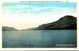 New York Lake George Showing Black Mountain Curteich