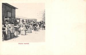 Ghana Gold Coast Accra market sellers postcard