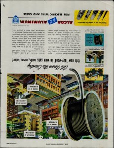 1948 Alcoa EC Aluminum Electric Wire and Cable Vintage Print Ad 3753