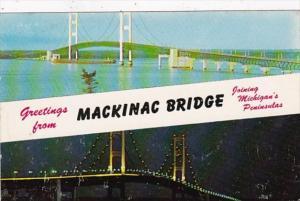Michigan Greetings From Mackinac Bridge