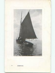 Pre-1920 rppc SAILBOAT Postmarked Ionia - Near Lansing & Grand Rapids MI i8308