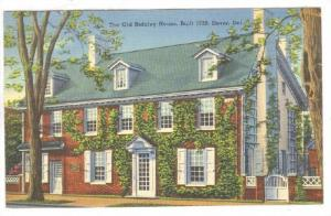 The Old Ridgley House, Built 1728, Dover, Delaware, 1930-1940s