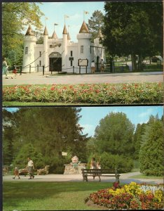 (2) Ontario LONDON Entrance Castle to Storybook Gardens, Humpty Dumpty - Chrome