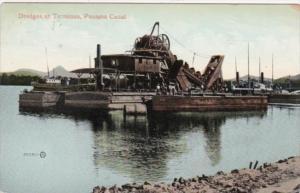 Panama Dredges At Terminus 1913 Panama Canal
