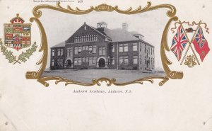 AMHERST, Nova Scotia, Canada, 1900-1910's; Amherst Academy, Coat Of Arms