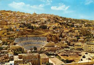 Jordan Old Vintage Antique Post Card Amphitheatre of Philadelphia Amman 1974