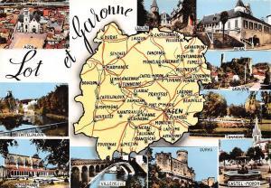 France Lot et Garonne Map multiviews Duras Marmande Villeneuve Castel Tonneins