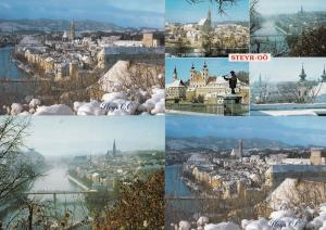 Steyr Austria Rivers at Christmas 4x Postcard s