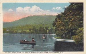 Clinton Dam Marker and Source of Susquehanna River, Cooperstown, New York, PU...