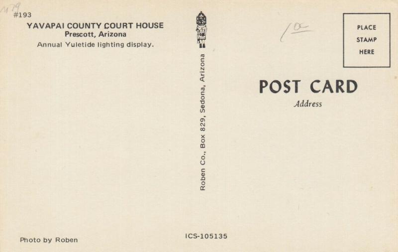 PRESCOTT , Arizona , 50-60s ; Court House