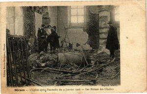 CPA HIRSON L'Eglise apres l'incendie du 9 Janvier 1906 (155649)