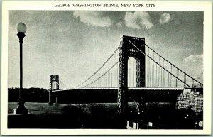 New York City Postcard GEORGE WASHINGTON BRIDGE East & West Pub. Unused