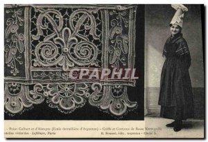 Old Postcard Folklore Lace School Dentelliere d & # 39Argentan Point Colbert ...