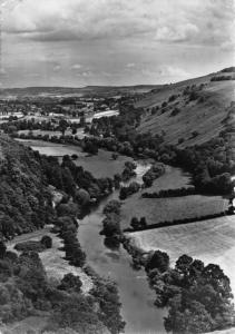Vintage 1959 REAL PHOTO Postcard Wye Valley from the Great Rock SYMONDS YAT
