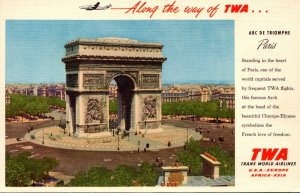 Advertising Trans World Airlines To Paris